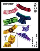 McCall's #2382 Pattern Women's BELTS & BAGS & Flower Vintage 50's Fabric Sewing