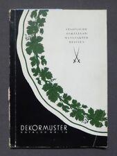 Dekormuster Katalog Nr.16 Staatliche Porzellan - Manufaktur Meissen, DDR 1958