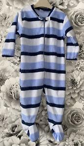 Boys Age 6-9 Months - Next Fleece Sleepsuit