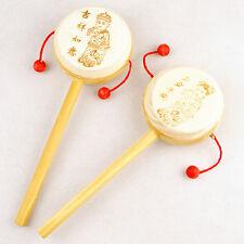 Enfants Hochet en bois jouets tambour percussion musical jouets Main Bell jouet