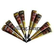 4 Maroon Golecha Henna Cone + 4 Black Henna Cones Qucik Dry Instant Tattoo Ink