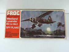 FROG  VINTAGE 60/70  WESTLAND LYSANDER Mk 1  I/72è BON ÉTAT KIT RED SÉRIE