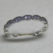 Authentic Pandora Ring Sparkling Leaves Band Size 52 (6) 190923CZ Box Included