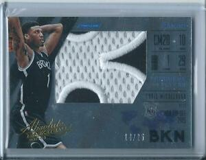 2015-16 PANINI ABSOLUTE CHRIS MCCULLOUGH ROOKIE RC JUMBO PATCH /25