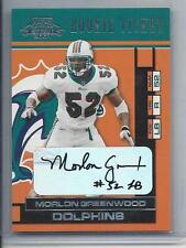 Morlon Greenwood 2001 Playoff Contenders Dolphins Rookie Ticket True Rc Auto 160