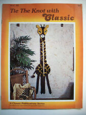 Tie The Knot with Classic Macrame pattern giraffe mushroom magazine rack curtain