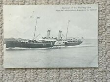 A Vintage Postcard of The Dayboat of the Flushing Line (Royal Mail) Dated 1907