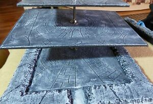 Wargaming Scenery Rotating Tiered Gaming Boards Stone Terrain Dungeons Dragons