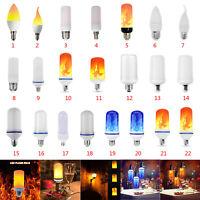 E27 E14 LED Flammen Effekt Feuer Glühbirnen Flackernd Emulation Dekor Lampe