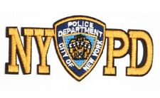 Iron/Sew on NYPD patch biker New York Police Department logo cop costume  (1866)