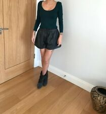 Primark Atmosphere Forest Green Bodysuit Top Cropped Sleeve Festival