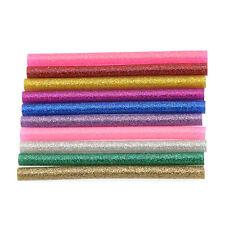 10 Pcs Glitter Hot Melt Glue Sticks DIY Art Craft Hobbies Colorful Handcraft
