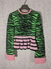 Kenzo x HM Green Pink Tiger Knit Sweater Size XS