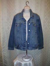Gap Medium Indigo Blue Women's Jean Jacket size 2XL Full Button ,4 pockets NWT