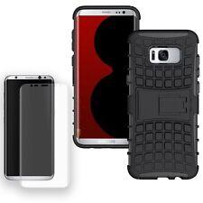 Hybrid Case Tasche 2teilig Schwarz für Samsung Galaxy S8 Plus G955F + Panzfolie