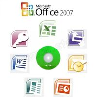 Microsoft Office 2007 Professional CD Full Version 10 PC's Word Excel PowerPoint