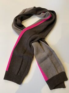 Paul Smith- Brown And Pink Sleeve SCARF 100% WOOL UNISEX - BNWT