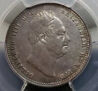 Silver 1834 England Great Britain Shilling | William IV | PCGS AU Details
