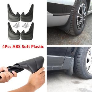 4 Piece Car Accessories Mud Flaps Mud Guards Splash Flares Trim Moulding Black