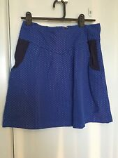 Made590 sky blue skirt with grey spots in size S