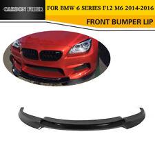 Front Bumper Spoiler Lip Refit for BMW F12 M6 2Door 14-16 Factory Carbon Fiber
