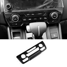 For Honda Crv Cr-V 2017-20 Carbon fiber Style Center Console Cd Panel Cover Trim