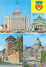 Romania Buhcarest La Maison de Scinteia Ateneul Roman Museum Palace Cars Bus