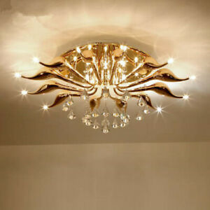 Modern LED Swan Lights crystal Ceiling Lamp Chandeliers for dining room bedroom