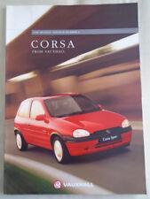 Vauxhall Corsa range brochure 1996 models ed 2