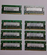 Lot of 8 5300s RAM For Laptop 6 x 512Mb 2 x 256Mb Apple or PC Tested FREE SHIP