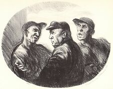 PAUL LOUIS CLEMENS 1939 WPA Book Print BASEBALL ARGUMENT Vintage Artwork Sketch
