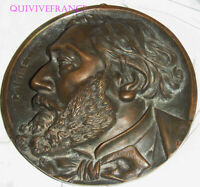 Grand Médaillon Profil Bronze LEON GAMBETTA