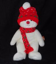 "13"" TY BEANIE BUDDIES 1999 SNOWBOY CHRISTMAS SNOWMAN STUFFED ANIMAL PLUSH TOY"