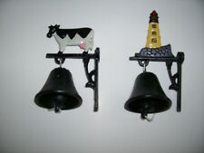 Lighthouse and Cow Collectible Bells For Mounting