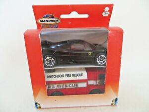 MATCHBOX HERO CITY 'FIRE RESCUE ENGINE & FERRARI F50' TWIN/2 PACK/SET. MIB/BOXED