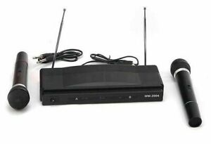 Set karaoke con 2 microfoni wireless AT-306