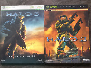 2 XBOX Halo Books- 2 and 3 Official Guides - Sealed-XBOX 360