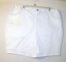 Women's Denim & Co. Cotton Blend WHITE Shorts ~  Size 3X