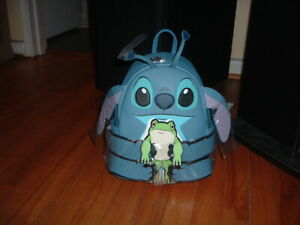 LOUNGEFLY DISNEY STITCH HUGGING FROG MINI BACKPACK~ WITH TAGS~BRAND NEW~