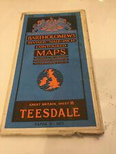 Bartholomews Revised Half Map Teesdale Sheet 35 1947 Darlington Appleby Good Nic