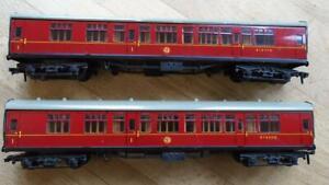 HORNBY DUBLO MK. 1 B.R. COACHES 4052 X2 2 RAIL EXCELLENT.