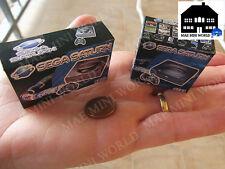 Sega Saturn PAL MK1 y MK2. Cajas miniatura. Escala 1/12.