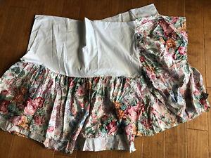 Vintage RALPH LAUREN Allison Floral Twin Bedskirt Romantic Cabbage Rose