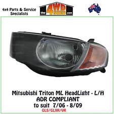 HEADLIGHT fit MITSUBISHI TRITON ML L/H LEFT PASSENGER SIDE 2006-2009 ADR