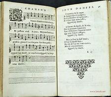 MUSIQUE DU XVIIe siècle. Livre de chansons pour danser et pour boire. 1653