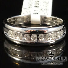 MEN'S 10K WHITE GOLD 0.23CT GENUINE DIAMOND WEDDING ENGAGEMENT RING BAND SZ 10.5