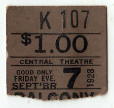 1928 CENTRAL THEATRE New York City TICKET STUB Lilac Time Movie FITZMAURICE NYC