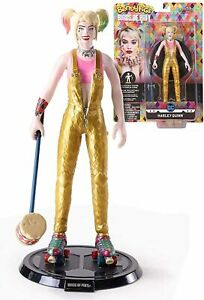 DC COMICS HARLEY QUINN POSABLE BENDABLE FIGURE FIGURINE WITH STAND