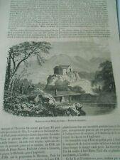 Maison ou est né Paoli en Corse Gravure Print 1868