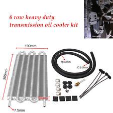 12''Radiator Car Transmission Transfer Engine Fuel Oil Cooler W/Cooling Kit 6Row